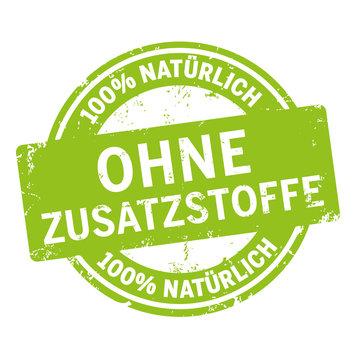 grünes siegel ohne Zusatzstoffe
