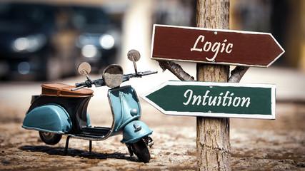Street Sign Intuition versus Logic