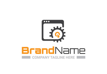 Logo Layout with Web Browser Icon