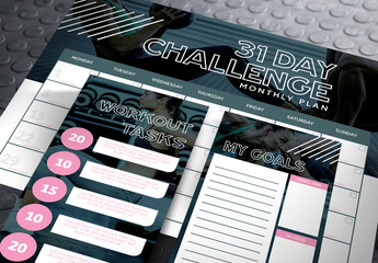 Fitness Exercise Planning Kit Layout