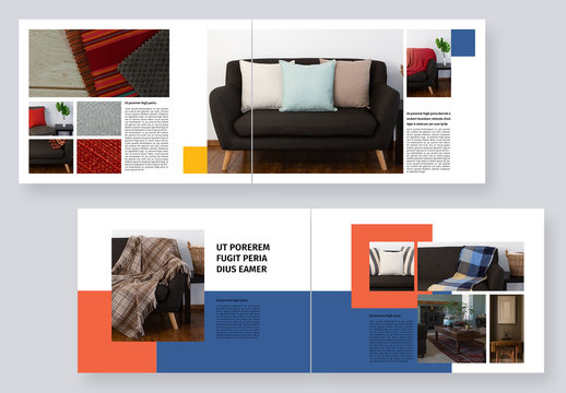 Colorful Portfolio Magazine Layout
