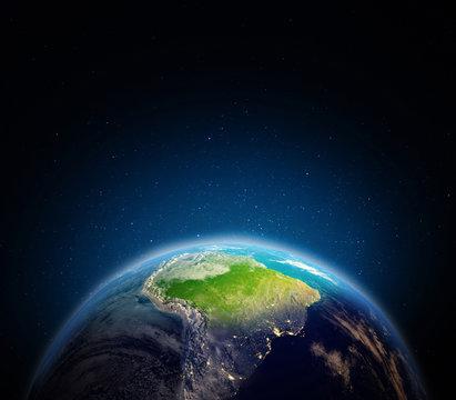 South America 3d rendering
