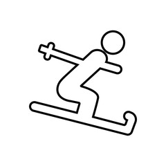 Skier icon. Element of Sport for mobile concept and web apps icon. Outline, thin line icon for website design and development, app development