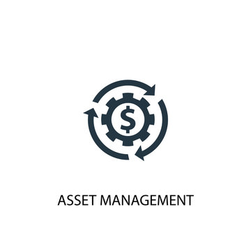asset management icon. Simple element illustration. asset management concept symbol design. Can be used for web and mobile.
