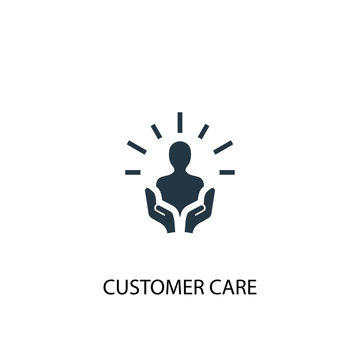customer care icon. Simple element illustration. customer care concept symbol design. Can be used for web and mobile.