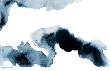 Dark colored watercolor picture