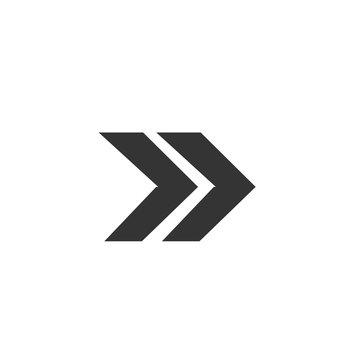 Fast foward vector icon