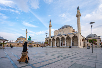 Wall Mural - Selimiye Mosque and Mevlana Museum in Konya, Turkey