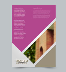 Photo sur Plexiglas Taupe Purple and brown vector flyer template. Abstract brochure background design. Annual report prisoner. tatFor business, education, advertisement.