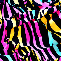 Abstract zebra lines pattern. 3d rendering picture.