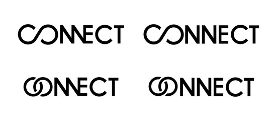 connect logo black and white