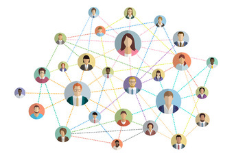 people connection internet web colored Wall mural