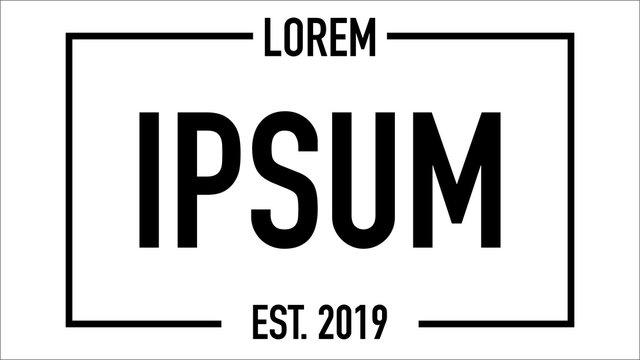 lorem ipsum established date white background vector