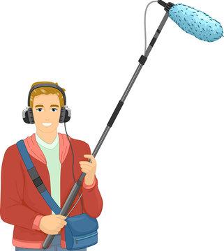 Man Boom Operator Illustration