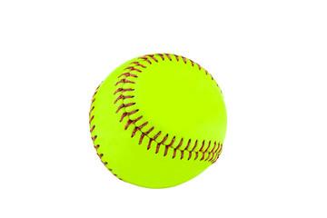 new baseball on white background