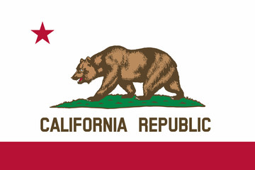 Flag of California state of the United States. Wall mural
