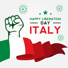 Italy Liberation Day Vector Design