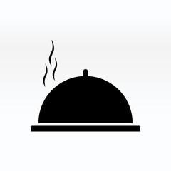 Cloche food plate vector illustration. Cloche icon simple