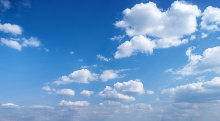 Blue sky with white clouds. Blue sky background with clouds. Fototapete