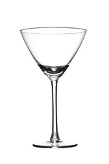 Empty glass with reflection.