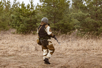 Russian counter-terrorist unit on the battlefield