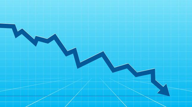 Financial Arrow going down