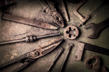 grungy old tools