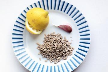 Ingredients for a fresh RAW vegan spread