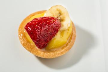 Fresh Italian pastries with custard and fresh fruit