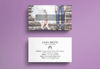 Wedding Business Card Layout