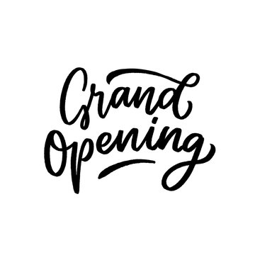 Lettering for grand opening store, cafe.