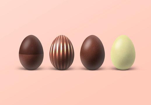 Chocolate Easter Eggs Mockup
