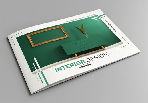 Interior Brochure Layout with Green Accents