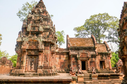 Exterior of Temple of Banteay Srei, Siem Reap, Cambodia