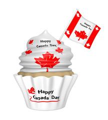 Cupcake mit Design für den Happy Canada Day.