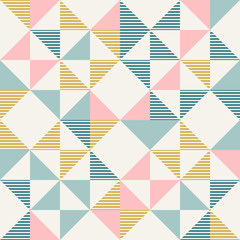 Abstract geometry in retro colors, diamond shapes geo pattern