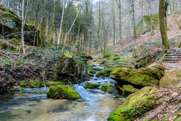 Luxemburg, Mullerthal Trail hike along river