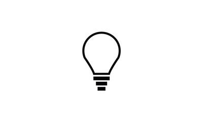 Light bulb symbol icon bright