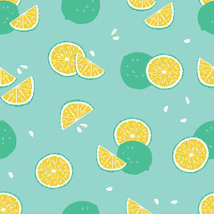 Vector green lime tropical beach resort spa repeat pattern. Suitable for gift wrap, textile and wallpaper.