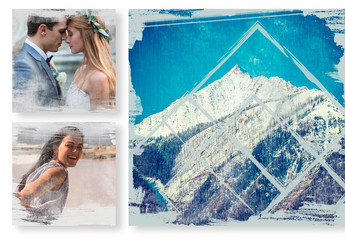 Social Media Post Layouts with Masking Effects