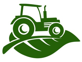 Farm Tractor suitable for icons, logos, symbols and more