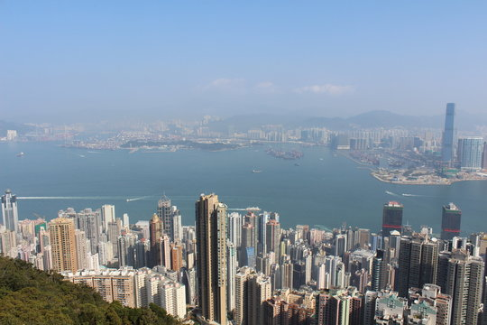 Hong Kong Skyline Peak Aussicht