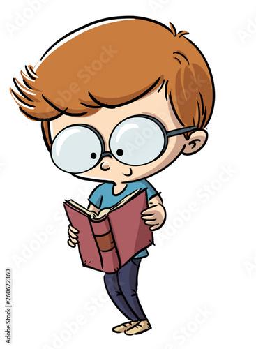 9311f2c5 niño leyendo un libro con gafas