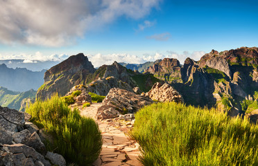 Landscape of Madeira island mountains Fototapete