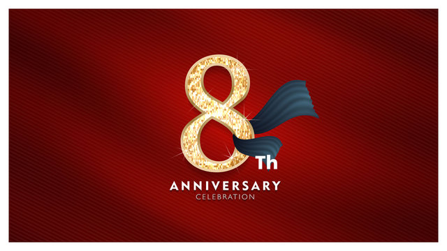 8Th Anniversary stock photos and royalty-free images, vectors and  illustrations | Adobe Stock