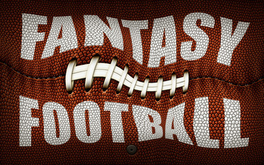Distorted Fantasy Football Title On a Football Texture
