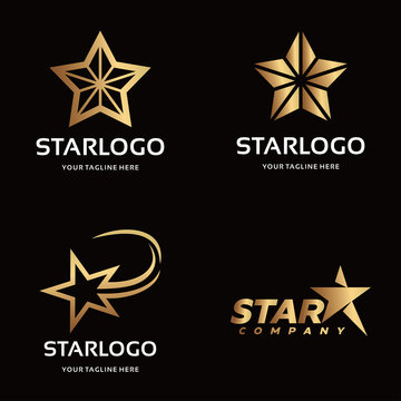 Collection of Gold Star Logo Design Template Inspiration
