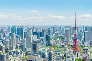 Poster Tokyo 春の東京風景 Tokyo city skyline , Japan
