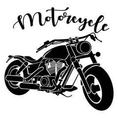 vector illustration of a vintage motorcycle