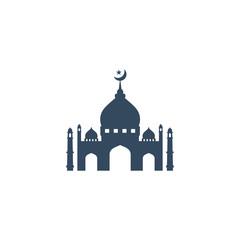 Deurstickers Mosque Moslem icon vector Illustration design template